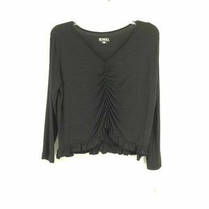 NEW  Bongo Top XL Pullover V Neck Ruched Thin